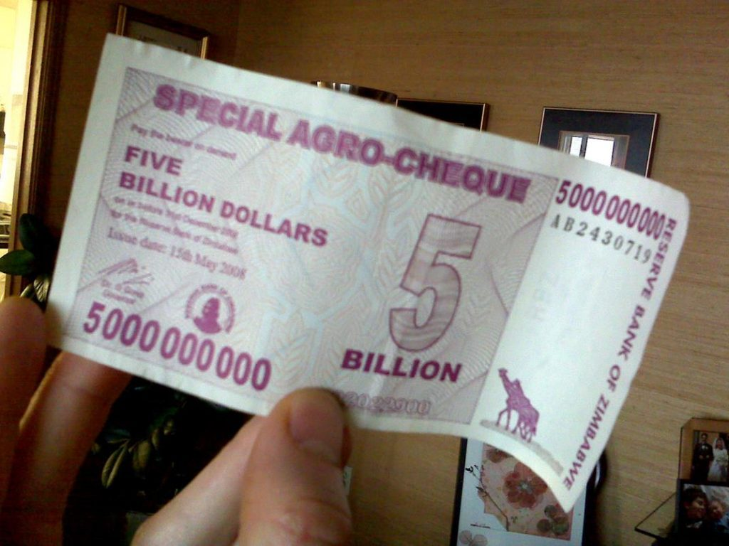 Zimbabwe Trillion Dollar Note